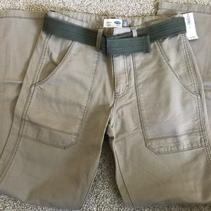 Boys Old Navy Khaki Utility Pants-Size 16